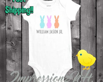 Personalized Easter Onesie - Baby onesie and bodysuit, cute easter baby shirt