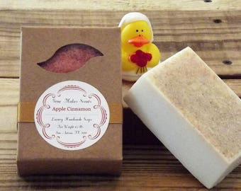 Apple Cinnamon Luxury Handmade Soaps 6.5 oz.