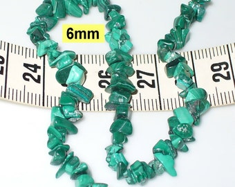 1 strand 20cm, approx. 90 Malachite splitter 6mm (701.2)