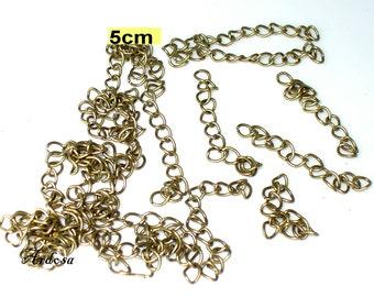 20 extension chains bronze 5 cm (214.1)