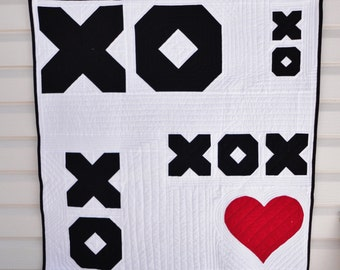 Modern Baby XO Heart Quilt