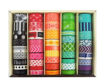 Sale! Recollections Washi Tapes Box - 45 rolls - Bold Colors/Daily DIY Washi Decorations