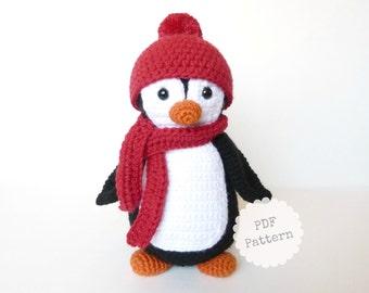 Amigurumi Penguin Crochet Pattern, PDF Download