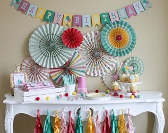 Hip Hip Hooray Birthday / Party In a Pinch / Party In a Box / Balloon Birthday Party / Girl Birthday Party