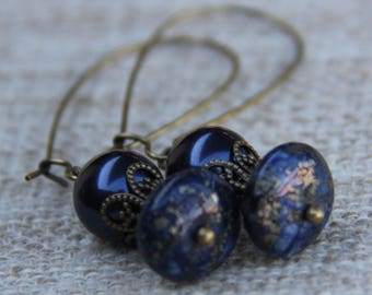 Swarovski Pyrite Quartz Earrings