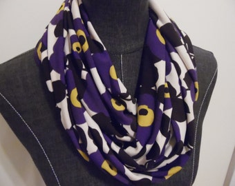 INFINITY SCARF. Circle Scarf.Mother's Day.Tube Scarf.Gift ideas for Her.Friend.Grandma.Sister.Daughter. Purple.Brown.Product ID# SC0042