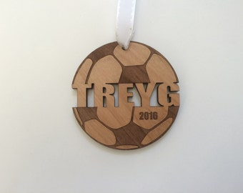 Soccer Ornament Soccer Gifts Soccer Mom Soccer Coach Gift for Girls Boys Engraved Ornament Personalized Custom Christmas Ornament