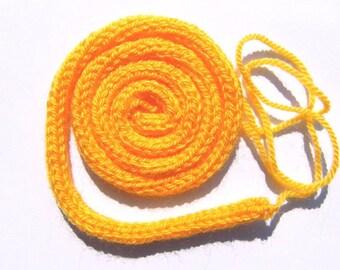 Stricklieselschnüre yellow cords bands bracelet Wickelarmand chain customize jewelry do it yourself DIY