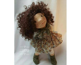 Waldorf style pop, about 50 cm. Waldorf style doll, about 50 cm.