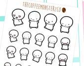happy emotis - emoti planner stickers E001