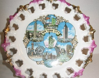 Vintage New York City Souvenir Plate
