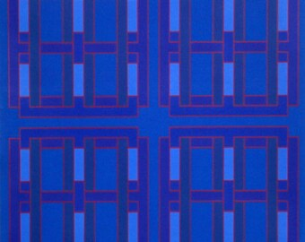 Color field serigraph by Peter Stroud