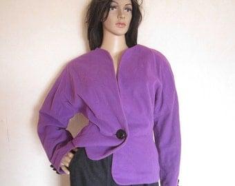 Vintage 80s Chasmere jacket van Laack jacket wool cashmere oversized 38