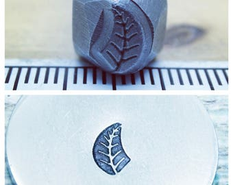 Reduced was 15 now 11| Right facing Leaf metal design stamp| metal jewellery stamp| metal texture stamp|hand stamping punch| unusual metal s