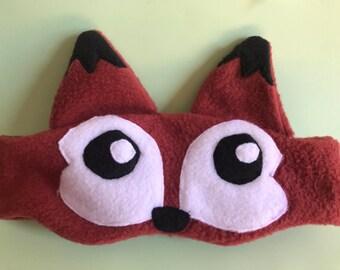 Fox sleep mask    gift for her or the kids    slumer party favor    sleep aid   