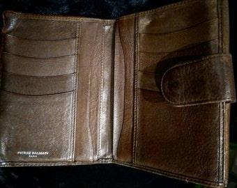 Balmain cartera hombre vintage / Pierre balmain vintage cartera purse / purse luxury Pierre balmain vintage cuero genuine / regalo hombre