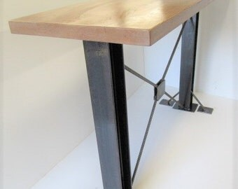 Awesome Bar Height Industrial Table, Black Table, Standing Office Desk, Rustic Bar  Height Table