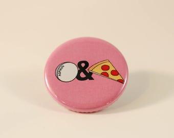 Aspirin and Pizza logo button/pin