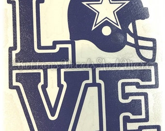 Dallas Cowboy Decal - use on a Yeti, RTIC, or Ozark cup, Car window, Walls, Home WIndows, etc.