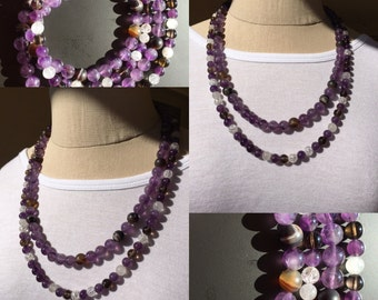 Amethyst with brown accents  R-4