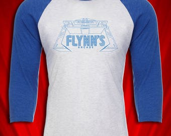 Flynn's Arcade Retro Tee Tron Video Game 1980s