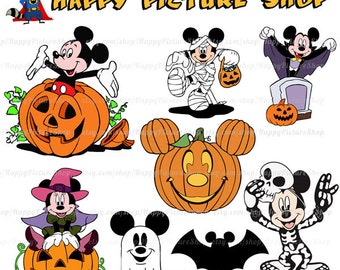 Mickey mouse halloween SVG  Cutting File in Svg, Eps, Dxf, and Jpeg Format for Cricut and Silhouette INSTANT DOWNLOAD
