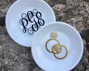 Monogram Ring Dishes | Personalized Ring Dish | Custom Jewelry Dish