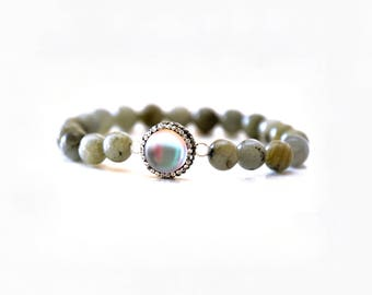 Success and hope bracelet – Labradorite and Moonstone