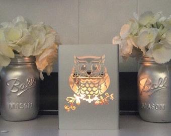 Owl candleholder