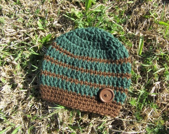 Crochet Newborn Boy Hat/Crochet Newborn Hat/Baby Boy Hat/Crochet Hat/Crochet Button Hat/Hospital Hat/Coming Home Hat/Baby Gift/Newborn Hat