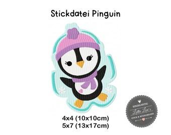 Embroidery design embroidery file Penguin Penguin winter 4 x 4 5 x 7