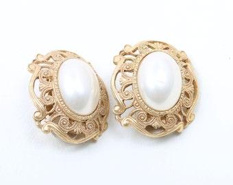 DKNY Faux Pearl Earrings