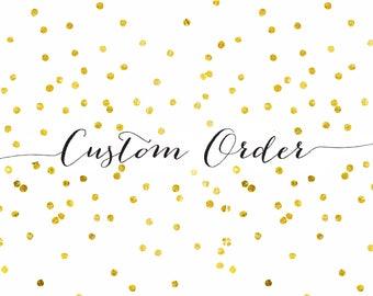custom table number order