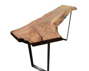 Live Edge Maple Console Table
