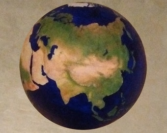 """4"""" Earth ball without clouds."""