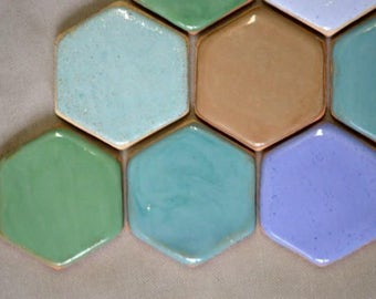 Hexagon ceramic small 3x4 cm