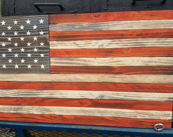 Large Flat American flag