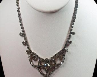 Vintage, Diamante Swag Necklace, (2600)