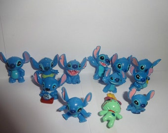 Mister A Gift STITCH FROM Lilo and Stitch cupcake toppers 12 figures