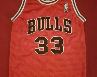 1990s Pippen Chicago Bulls jersey Scottie Pippen #33 Men's XS