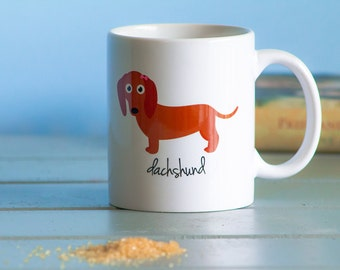 Dachshund Mug (red - girl)