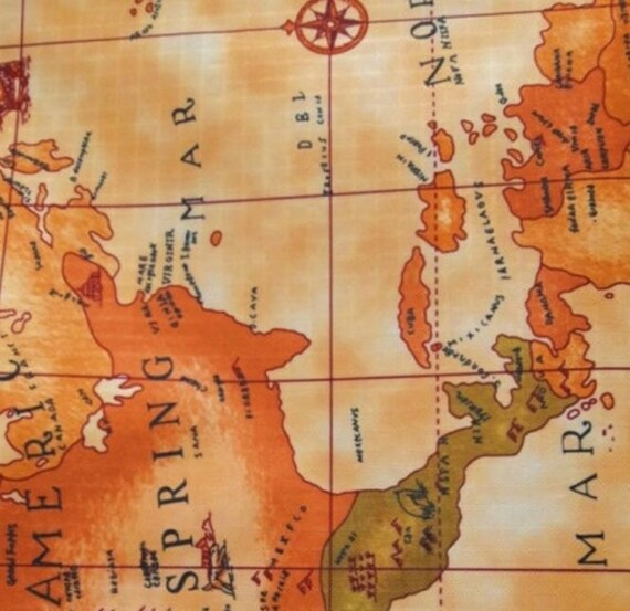 World map printed laminated fabric waterproof made in korea by like this item gumiabroncs Gallery