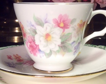 Pretty in Pink-Sadler Wellington Teacup and Saucer