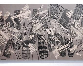 Fabric Art Panel - Yingarna (Creation Mother) and Dillybags Design