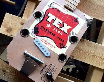 Tex Beer Cigar Box Guitar