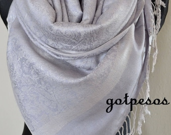 Pashmina Scarf Shawl for Women GRAY