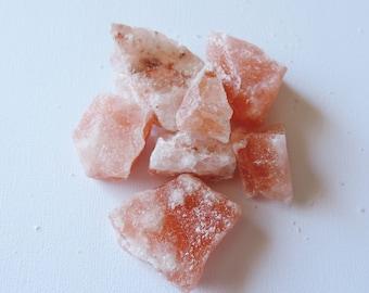 1 Raw Pink Himalayan Salt Rock Chunk, Crystal Healing, EMF Protection, Purification Tools, Crystal Grid, Meditation, Energy Cleansing,