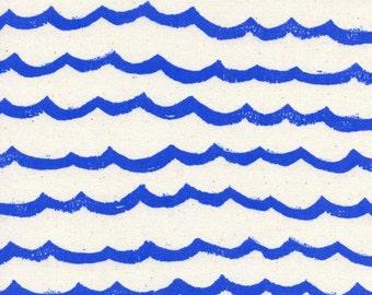 Cotton + Steel- Waves in Blue- Kujira and Star- Rashida Coleman Hale