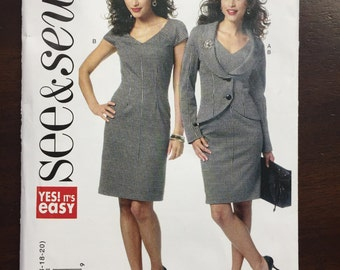 See & Sew Pattern B5664 Misses' Jacket and dress all sizes