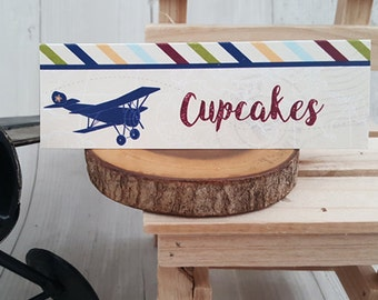 Airplane party dessert table signs,vintage airplane party food signs,printable dessert signs,airplane baby shower decor,airplane party decor